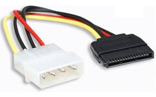 3 Cable Sata Poder Power Adaptador Molex A Sata 4 Pines