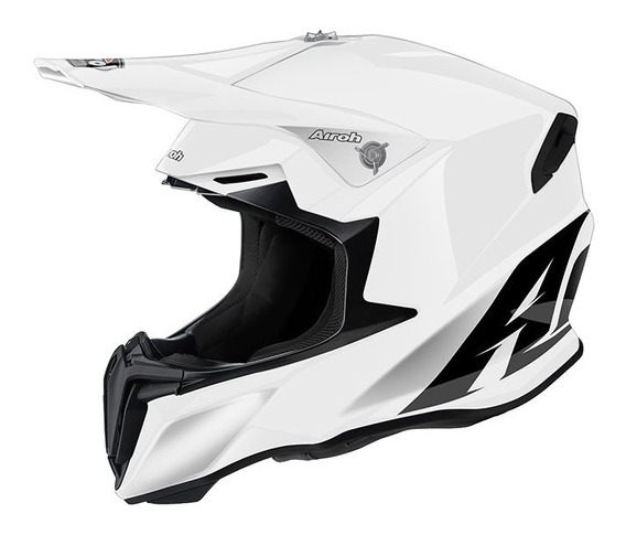 Casco Airoh Twist Blanco Moto Cross Enduro White + Remera