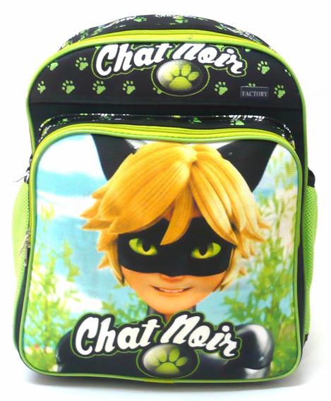 Mochila Infantil Cat Noir Ladybug Costas Meninos Tam M F4