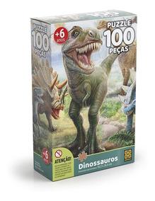 Puzzle 100 Peças Dinossauros Grow
