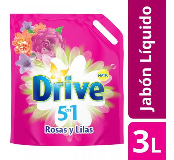 Jabon Drive Liquido Para Ropa Dp 4 Unid 3 Litros C/u