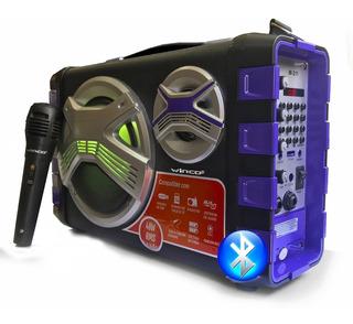 Parlante Potenciado Bluetooth Winco W211 40w Usb C/microfono