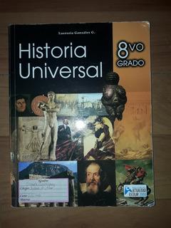 Historia Universal 8vo Grado. Editorial Actualidad Escolar