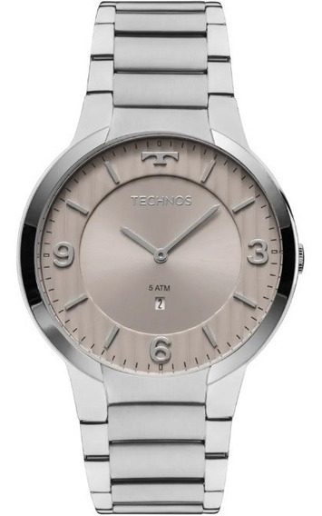 Relógio Technos Slim Masculino Gl15ao/1c Prata