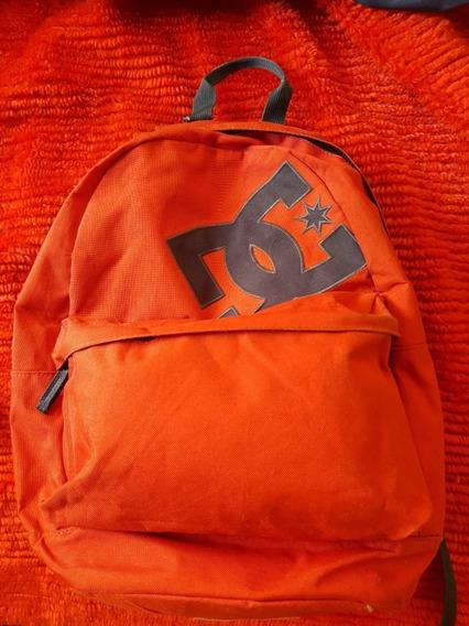 Mochila Dc Original Roja Escolar Urbana
