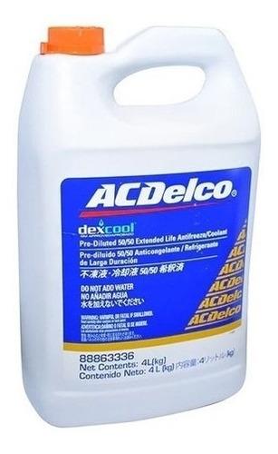 Imagen 1 de 2 de Refrigerante Original Acdelco 50/50 4lt 5años General Motors