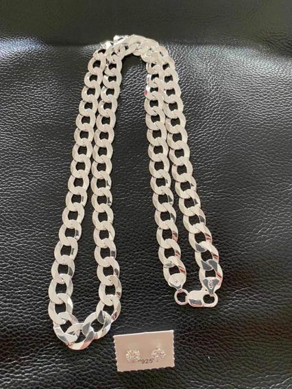 Cordão 11mm 70cm Escama De Peixe Prata 925 Maciça Promoção