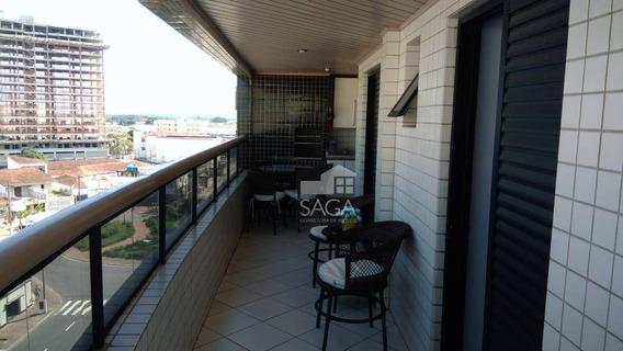 Imperdível!! Lindo Apartamento Mobiliado Com 2 Dormitórios À Venda, Por R$ 260.000 - Vila Guilhermina - Praia Grande/sp - Ap3003
