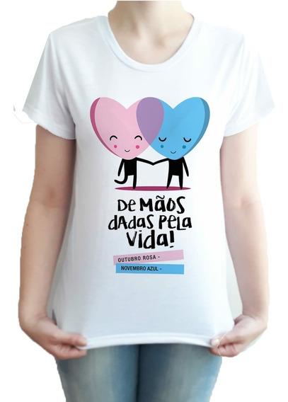Camiseta Masculino E Feminino Outubro Rosa Novembro Azul #2
