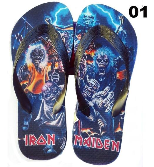 Chinelo Rock Iron Maiden Personalizado 01