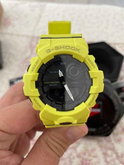 Relógio Casio G-shock Gba-800 Amarelo, Conexão Bluetooth!!