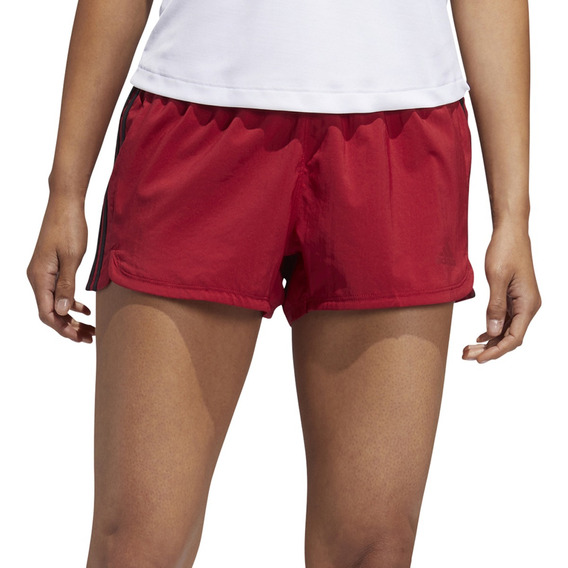 Short adidas Training 3 Stripes Mujer Rj/ng