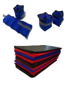 Kit / Set Colchonetas Gimnasia Yoga + Pesas Tobilleras 2kg