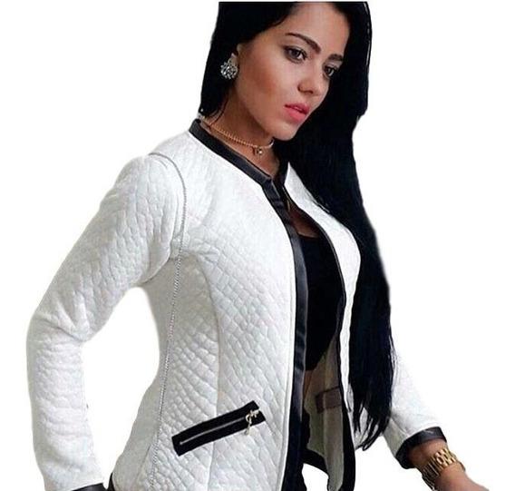 Kit 5 Jaqueta Jacquard Casaco Blazer Blusa Feminina Frio Top