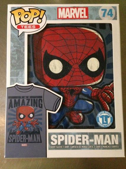 Funko Tee #74 Amazing Spiderman Playera Talla L