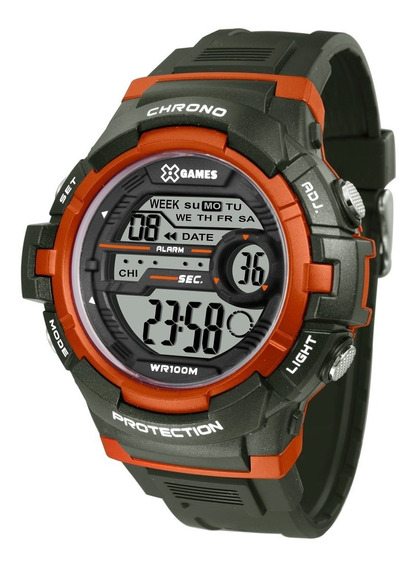 Relógio X-games Masculino Digital Xmppd514 Verde Militar