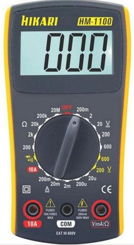 Multimetro Digital Hikari Hm-1100 Resist Diodo 600v + Cabos