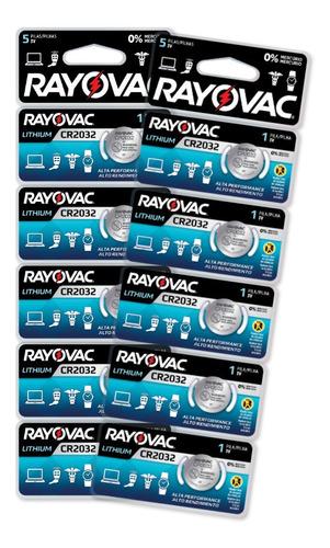 Kit 10 Baterias Rayovac Cr 2032 3v Lithium