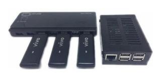 Pabx Ip Rasp + 1 Hub Usb + 3 Gateways Gsm