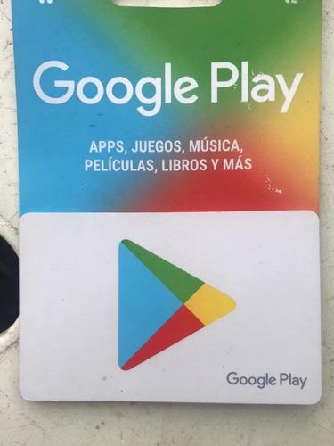 Imagen 1 de 1 de Google Play Tarjeta 500