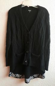 Sweater Asimétrico Color Negro Basel