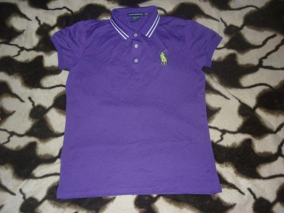 E Chomba Dama Polo Golf Ralph Lauren Talle M Violeta Art 564