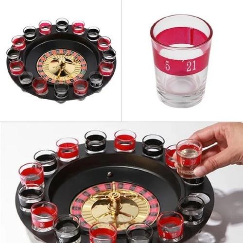 Ruleta Casino Shots 16 Vasos Bar Diversion Juego De Fiesta
