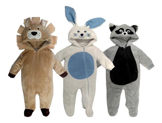 Pack 3 Mamelucos Leon, Mapache, Conejo A Precio De 2