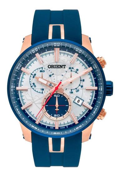 Relógio Orient Masculino Cronógrafo Mrspc006 S1dx Azul Rosê