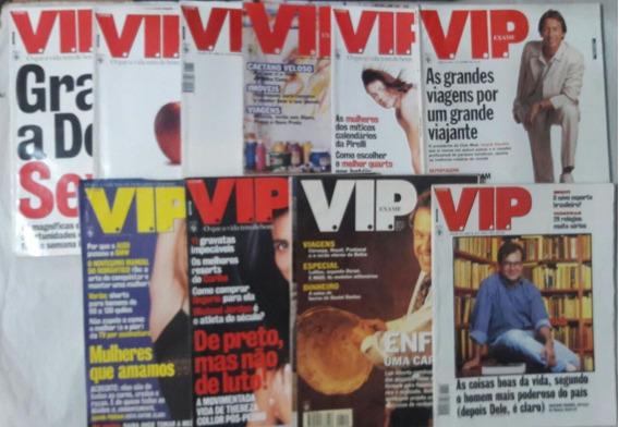 Kit/lote 10 Revistas Vip Exame De 1995 A 1997.