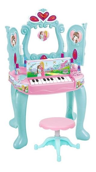 Penteadeira Piano Infantil Musical Luz Brinquedo Sensor