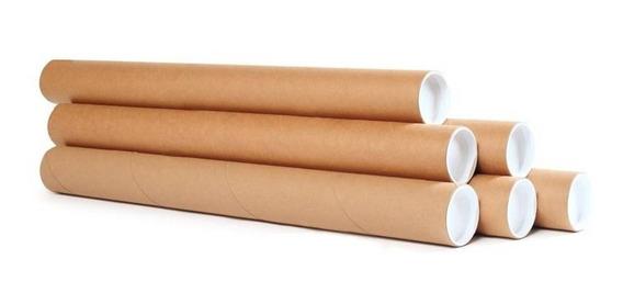 Tubo Postal De Papelão Tubete Canudo 30cm X 3,81cm Ø 40 Und