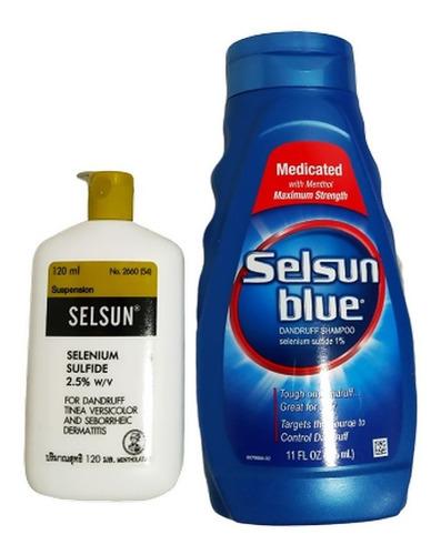 Selsun Amarillo Dorado  Y Selsun Azul T - mL a $858