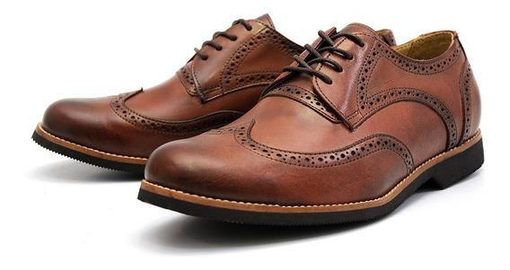 Sapato Oxford Casual Masculino Couro Legitimo Black Friday