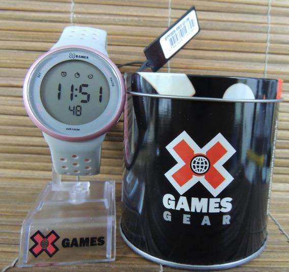 Relógio Feminino Digital X Games Mod: Xfppd039 Bxgr ( Nf)
