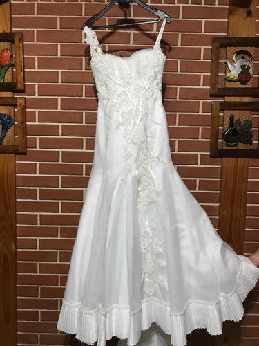 Vestido Novia Cosano O Fiesta 15 Tiritas Blanco Auténtico