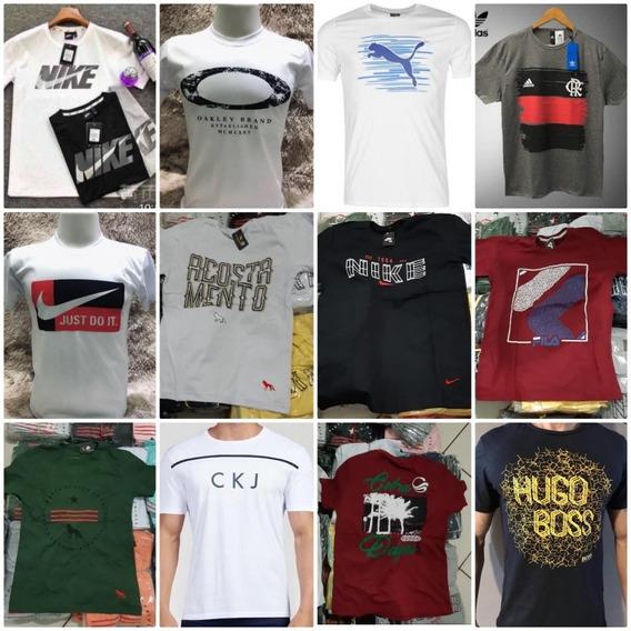 Kit 10 Camisetas Diversas Marcas Tamanho P M G E Gg