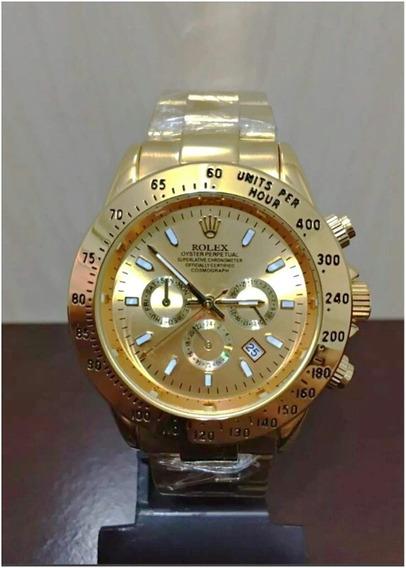 Relógio Daytona Gold Dourado 40mm Unissex Novo