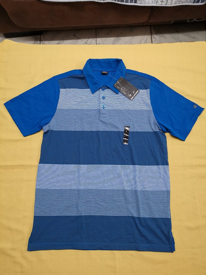 Playera Polo Oakley Blockade Polo Talla Chica Color Azul
