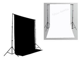 2 Tecidos 3x2 Preto + Branco Fundo Infinito Fotografico
