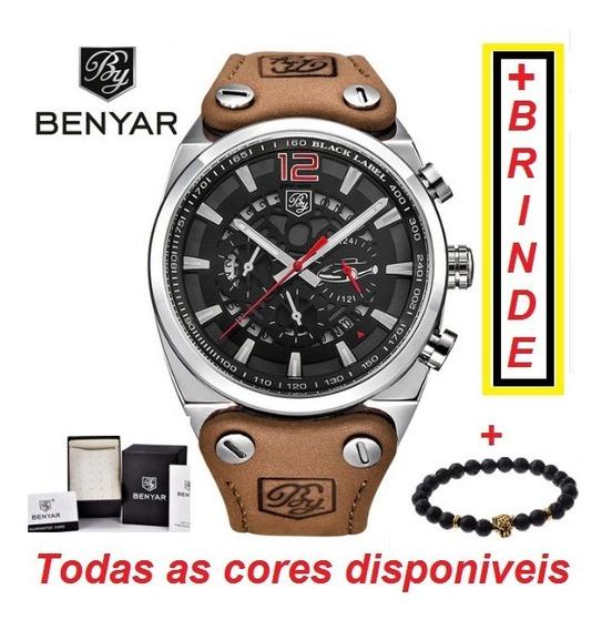 Relógio Benyar Masculino Original Promoção+brinde