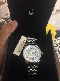 Relógio Automático Bulova Prata/azul Wb31998f