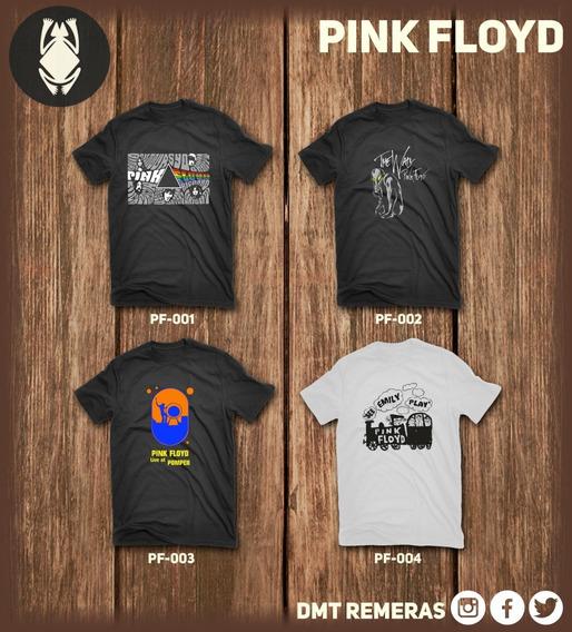 Remeras Pink Floyd - Estampadas Con Vinilo Importado