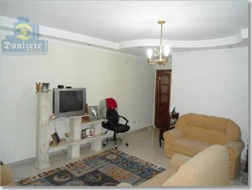 Sobrado Com 4 Dormitórios À Venda, 295 M² Por R$ 890.000,00 - Vila Scarpelli - Santo André/sp - So0838