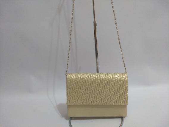 Bolsa Clutch Com Alça De Ombro Dourada - Linda!