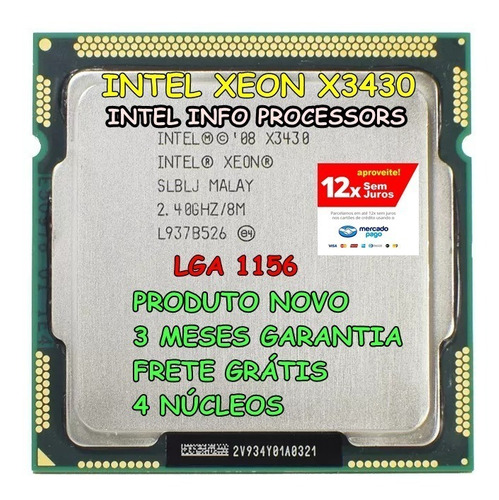 Processador Intel Xeon X3430 I7 870 I7 880 Lga 1156 Original