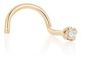 Piercing De Ouro 18k Nariz/orelha Com Diamante De 1 Ponto Ac