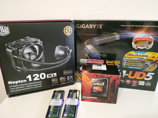 Gigabyte 990fxa-ud5 Amd Fx8350 Kingston 4gbx2 Nepton 120xl