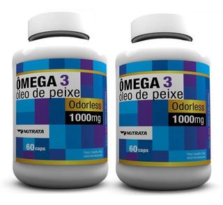 2 X Óleo De Peixe - Omega 3 - 1000mg - 60 Caps - Nutrata