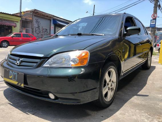 Honda Civic Lx 1.7 16v Automatico 2002/2002 - Completo